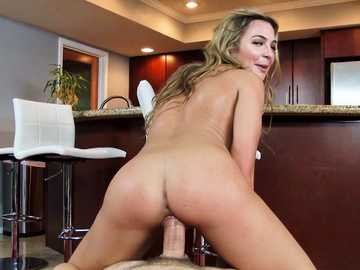 Bubble butt blonde Blair Williams mounts the hard penis of her husband