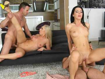 Diana Dali and Bessi have hot group sex after work